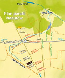 Mapka parafii